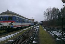 Eisenbahn / Bahnhof Oberschützen mit den noch vorhanden Zügen
