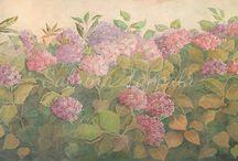 Quadri floreali / Quadri realizzati da me con soggetti floreali e frutta. Creati su legno, tela o muro.