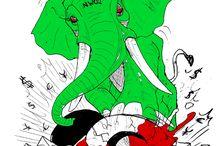 Verdes VS Rojos / Green VS Red / Verdes VS Rojos / Green VS Red Dibujos y Profecias del 2014 para el 2017 http://www.raulikidj.club/