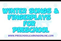 Winter Preschool Activities / Winter preschool activities, winter art ideas and snow themed songs for kids and any other winter ideas for children.