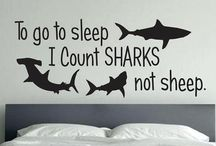 Ideas for the House / Awesome ideas for my bedroom mostly shark themed