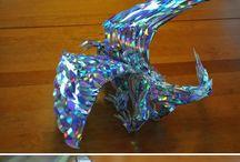 Esculturas feito de Cacos de vidro