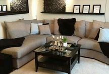beige black living room