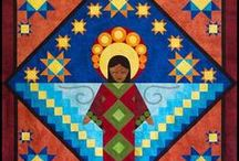 SouthWest Art / New Mexico, TexMex, Quilts, Southwestern Art, Desert art, Sewing projects, Landscapes