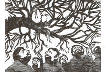 Alexandre Lettnin  - woodcuts/xilographies/xilograbados / Prints of an artist.