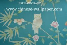 chinoiserie wallpaper from NSR HANDCRAFTS