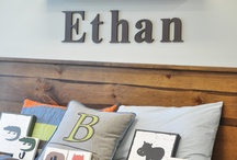 Personalize It! / Personalize nursery decor for your baby room. Kids love to see their name in print!  #personalize #babyname #name #letters #woodletters