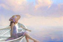deniz ve kadın
