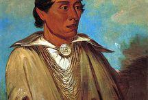 Kickapoo Chiefs / Les Kickapous ou Kickapoos sont une des tribus amérindiennes parlant une langue algonquienne. ... Trois tribus identifiées de Kickapous sont encore présentes aux États-Unis : les Kickapous du Kansas, les Kickapous de l'Oklahoma et la tribu traditionnelle des Kickapous du Texas. Il y a aussi une communauté kickapoue à Coahuila au Mexique. De plus, une importante communauté kickapoue en Arizona est actuellement en quête d'une reconnaissance fédérale. - http://fr.wikipedia.org/wiki/Kickapous