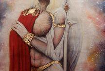 Archangel Michael by Marianna Venczak' painting