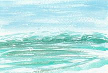 Ocean Art / Paintings, Art Prints, Seascapes, Impressionism, Hand Painted Seashells