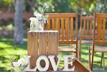 Ящики в свадебном оформлении