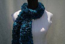 Newest  Ruffle Scarves / Handknitted  Scarves / by designbyelena