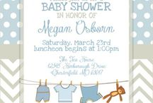 Boy baby shower invites