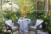 Drivhus og have