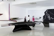 Zaha Hadid Gallery / The Zaha Hadid Gallery is arranged over two floors and showcases the latest in product and furniture design as well as models from the Zaha Hadid archive.