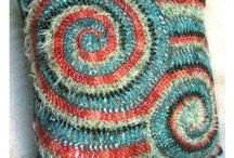 Textiles, knits and crochet / Things to learn the art of and create / by Rosemary Hugharts