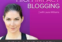 Health & Fitness Blogging Tips & Podcasts / Everything you need to improve your #health and #fitness #blogging, including High Impact Blogging #podcasts / by Girls Gone Sporty TM