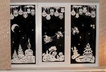decorazioni finestre invernali