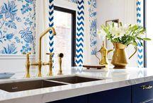 Blue interiors