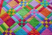 Bright colour quilt