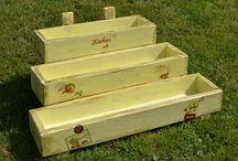 Virágláda / Flower box / Fából készült virágládák. / Handmade flower box.