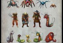 arachnides, bugs, etc.