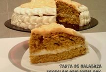 Tarta de calabaza / Tarta de calabaza fácil y jugosa receta paso a paso.  http://www.golosolandia.com/2014/10/tarta-de-calabaza.html