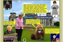 Riding a bear, Tzar Putin challenge - Chancellor style