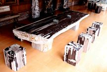 Petrified Wood Tables / The world's most amazingly beautiful petrified wood tables for home furniture decoration.