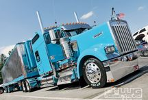 Big Rig Show Trucks / BIG RIG SHOW TRUCKS that are 'stylin' and profilin'. Some very cool big rigs, that really 'let it all hang out'. 10-4?  / by Smart Trucking