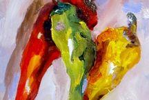 Vegetables & fruit paintings