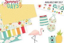Summer Days / Celebrate all things summer with Simple Stories' new Summer Days collection!  From frolicking flamingos and perky pineapples to flirty florals in sunlit shades, Summer Days is everything you need to capture your sunny summertime memories.