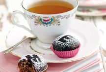 TEA / Having a tea party with sweets, sandwiches, scones, clotted Cream, cake, chocolates.  / by Marije Dijkma