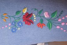 My work - Kalocsa embroidery / hand embroidery