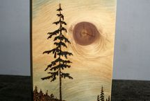 Holz brennen, schnitzen