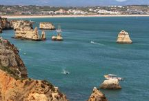 Sun Kissed Beaches in Lagos | Algarve | Portugal / #Algarve #bestbeaches #Lagos Large rock formations and caves to explore & a turquoise blue sea makes these beaches around Lagos interesting and worth visiting. For more information on other best beaches in the Algarve jump to http://www.greatholidaylocations.com/things-to-do/algarve-beach/