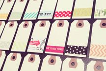 Washi Easter tags