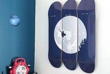 SKATEboard Desing on wall