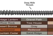 Deck Screws / Find deck screws for composite decks, pvc decks, hardwood decks, cedar decks, redwood decks and more. / by DIY Home Center