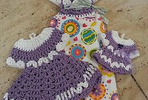 Crochet dress topper set