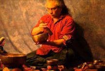 Chakra meditation with singing bowls
