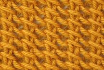 Crochet and knit patterns / Textured knit