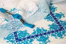 Вишиті серветки та скатертини / Схеми та набори вишитих серветок та скатертин Українська традиційна вишивка, прикладна