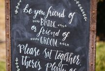 Inspiration Various Wedding Signs / Signs pinned to this board are not our work, but are wonderful inspiration for our future customers. Take a look, see what you like, we will see to make all requested chalk signs extraordinary.