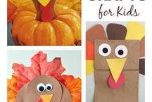 Kids Thanksgiving Crafts / Thanksgiving | Crafts | Kids | Holidays | Homeschooling