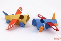 Rolo de papel para Crianças / Artesanato para crianças de rolo de papel higiênico.