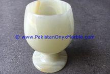 ONYX WINE SHERRY GLASSES SET WHITE ONYX DECORATIVE STONE GLASSES, UNIQUE