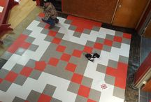 Vinyl Tile Patterns / Different floor patterns and designs of vinyl tile flooring.