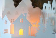 DIY Paper Holiday Village